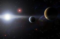 Pianeta ed universo Fotografia Stock