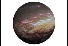 Pianeta fantastico della stella, isolato su fondo bianco Gli elementi di questa immagine sono stati forniti da SEC-Hubble fotografie stock libere da diritti