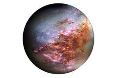 Pianeta fantastico della stella, isolato su fondo bianco Gli elementi di questa immagine sono stati forniti da SEC-Hubble immagini stock libere da diritti