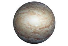 Pianeta fantastico della stella, isolato su fondo bianco Gli elementi di questa immagine sono stati forniti da SEC-Hubble immagine stock libera da diritti