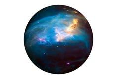 Pianeta fantastico della stella, isolato su fondo bianco Gli elementi di questa immagine sono stati forniti da SEC-Hubble fotografia stock
