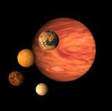 Pianeta Jupiter e lune Fotografia Stock Libera da Diritti