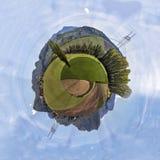 Pianeta miniatura della valle fra le montagne Fotografia Stock Libera da Diritti