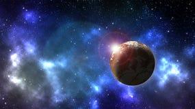 Pianeta nello spazio cosmico illustrazione vettoriale