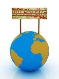 Pianeta non per la vendita isolata su priorità bassa bianca Immagine Stock Libera da Diritti