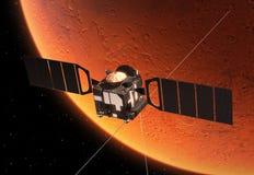 Pianeta orbitante Marte della stazione spaziale interplanetaria Immagini Stock