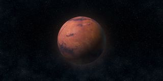 Pianeta rosso Marte Concetto di scienza e di astronomia Elementi di questa immagine ammobiliati dalla NASA Immagini Stock Libere da Diritti
