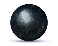 Pianeta scuro della roccia su bianco Immagini Stock