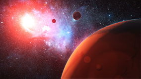 Pianeta straniero rosso nello spazio cosmico royalty illustrazione gratis