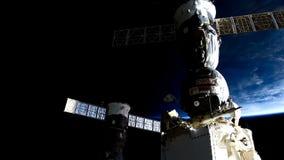 Pianeta Terra alla notte veduta dall'ISS Elementi di questo video ammobiliato dalla NASA archivi video