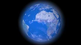 Pianeta Terra blu nella galassia scura video d archivio