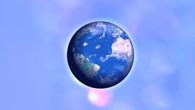 Pianeta Terra blu nella galassia scura archivi video