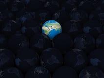 Pianeta Terra con terra scura HD Fotografia Stock Libera da Diritti