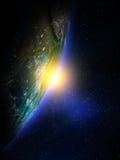Pianeta Terra da spazio Fotografie Stock