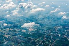 Pianeta Terra da un'altezza di 3000 Immagini Stock Libere da Diritti