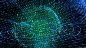 Pianeta Terra dalle particelle brillanti video d archivio