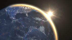 Pianeta Terra di stupore di vista da spazio royalty illustrazione gratis