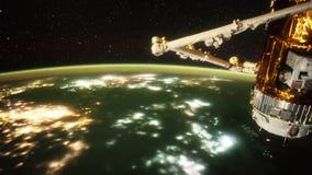 Pianeta Terra e Aurora Borealis veduti dalla Stazione Spaziale Internazionale ISS Elementi di questo video ammobiliato dalla NASA illustrazione di stock