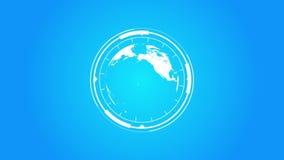 Pianeta Terra Logo With Hud Infographics Effects royalty illustrazione gratis