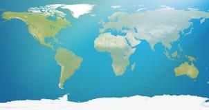 Pianeta Terra, mappa di mondo 3D-Illustration Elementi di questa immagine Immagini Stock Libere da Diritti