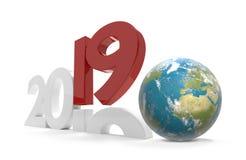 2019 pianeta Terra mondiale 3d-illustration Elementi di questo i Fotografia Stock