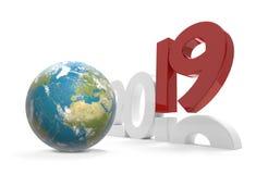 2019 pianeta Terra mondiale 3d-illustration Elementi di questo i Fotografie Stock Libere da Diritti