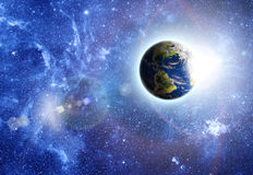 Pianeta Terra nello spazio Fotografia Stock Libera da Diritti