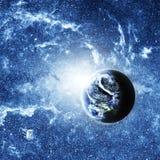 Pianeta Terra in profondità nello spazio Fotografia Stock