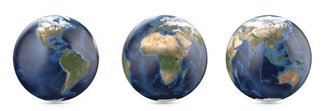 Pianeta Terra senza nuvola Mostra dell'America, continente di Europa, Africa, Asia, Australia illustrazione vettoriale