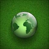 Pianeta Terra sull'erba Fotografia Stock