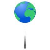 Pianeta Terra sulla punta dell'ago (giornata per la Terra) - illustrazione illustrazione di stock