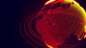 Pianeta Terra virtuale dettagliato Fotografia Stock