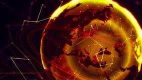 Pianeta Terra virtuale dettagliato Fotografie Stock