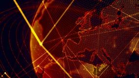 Pianeta Terra virtuale dettagliato Immagini Stock Libere da Diritti