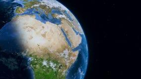 Pianeta Terra, vista da spazio cosmico royalty illustrazione gratis