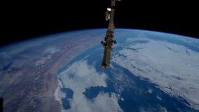 Pianeta Terra visto dall'ISS Elementi di questo video ammobiliato dalla NASA illustrazione di stock