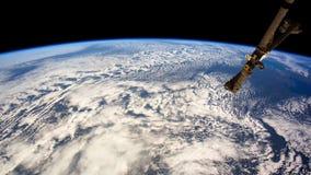Pianeta Terra visto dallo spazio Elementi di questo video ammobiliato dalla NASA illustrazione di stock