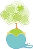 Pianeta verde dell'acqua royalty illustrazione gratis