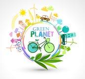 Pianeta verde di eco Fotografia Stock Libera da Diritti