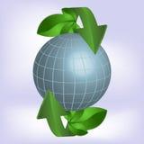 Pianeta verde, ecologia. Illustrazione di Stock