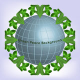 Pianeta verde, ecologia Pace verde Illustrazione di Stock