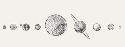 Pianeti del sistema solare illustrazione vettoriale