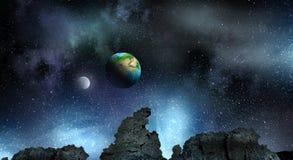 Pianeti del sistema solare Media misti Fotografia Stock