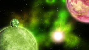 Pianeti dello spazio profondo ciclo illustrazione vettoriale