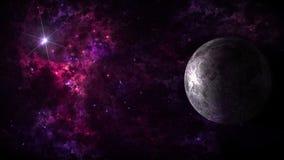 Pianeti e galassia, carta da parati della fantascienza Bellezza di spazio profondo illustrazione vettoriale
