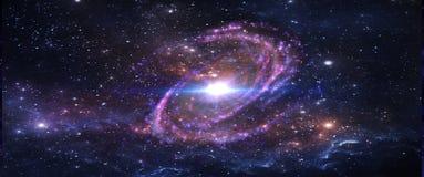 Pianeti e galassie, carta da parati della fantascienza Bellezza di spazio profondo fotografia stock
