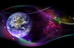 Pianeti, galassia, universo, cielo notturno stellato, galassia della Via Lattea con le stelle e polvere nell'universo, fotografia immagine stock