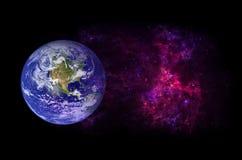 Pianeti, galassia, universo, cielo notturno stellato, galassia della Via Lattea con le stelle e polvere nell'universo, fotografia fotografia stock libera da diritti