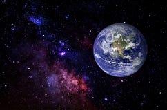 Pianeti, galassia, universo, cielo notturno stellato, galassia della Via Lattea con le stelle e polvere nell'universo, fotografia fotografie stock libere da diritti