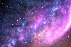 Pianeti, galassia, universo, cielo notturno stellato, galassia della Via Lattea con le stelle e polvere nell'universo, fotografia immagine stock libera da diritti